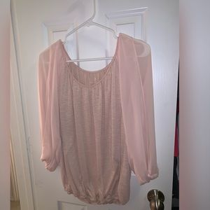New York and Co pink Blouse
